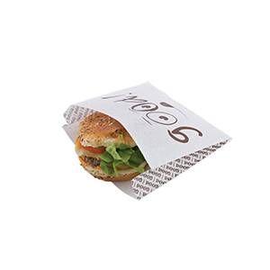 Sachet burger good kraft enduit pp - 180 + 50 x 180mm - par 1000 pièces (photo)