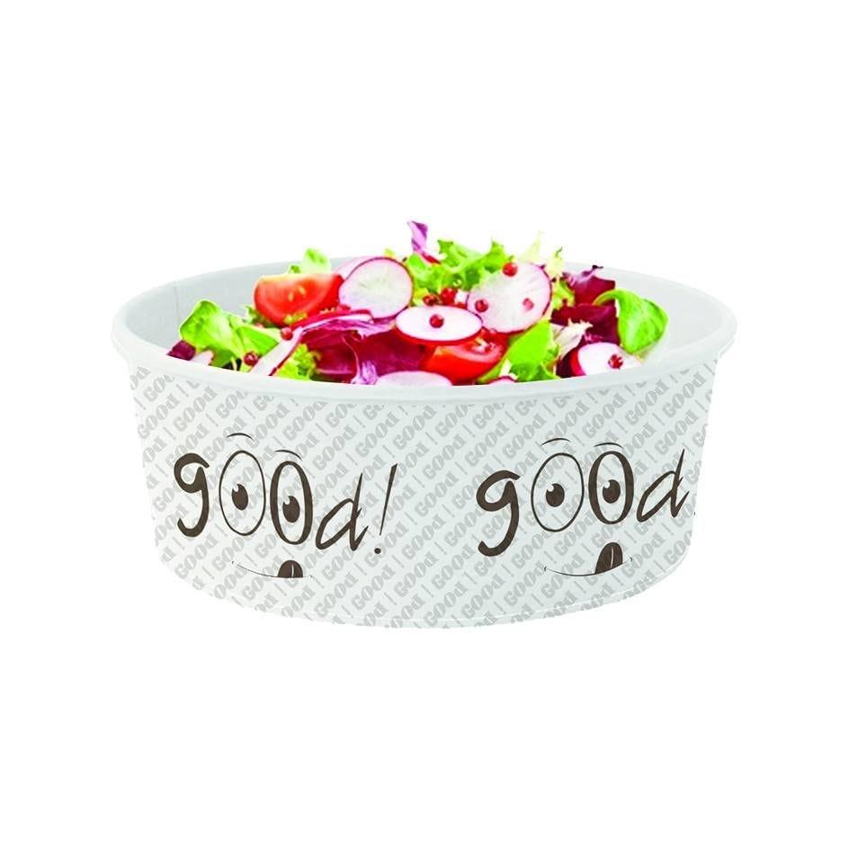 Boite salade kraft blanc good - 480 cc - 6 paquets de 50 (photo)