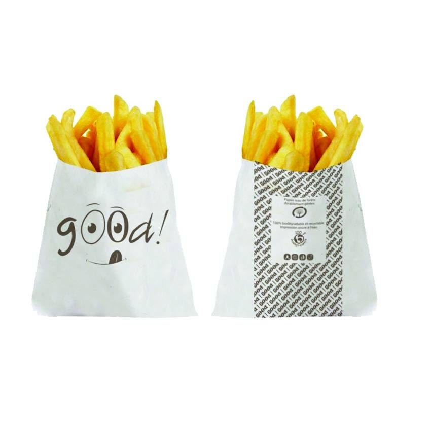 Sachet frites good kraft - 110 x 120mm - par 2000 pièces (photo)