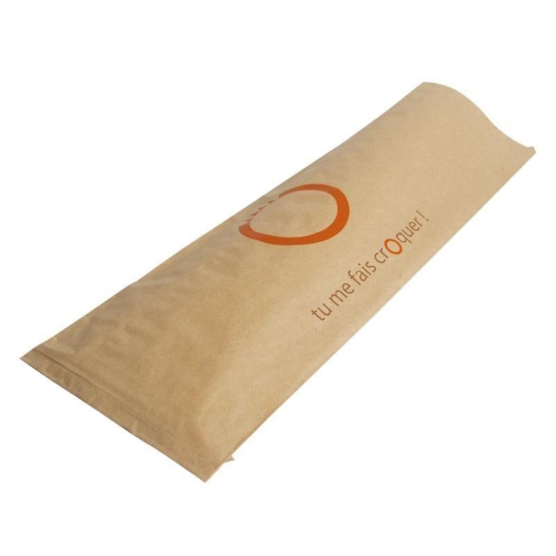 Sac kraft panini brun - 12 x 35 cm - par 1000 pièces (photo)