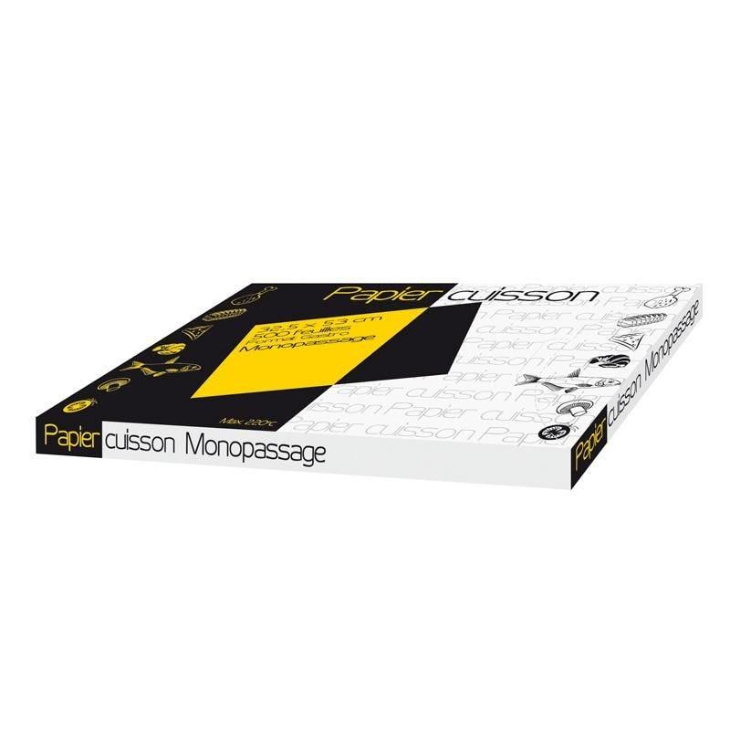 Feuille de papier cuisson mono-passage - 325 x 530 mm - par 500 pièces