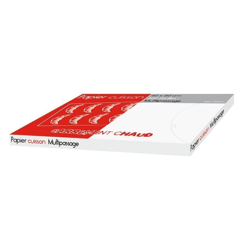 Feuille de papier cuisson multi-passages - 400 x 600 mm - par 500 pièces