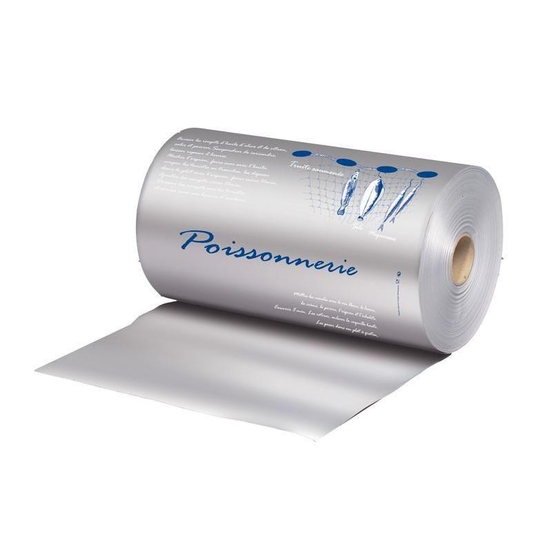 Bobine papier thermoscellable aluminium largeur 35 cm - 2 couleurs - par 10 kgs (photo)