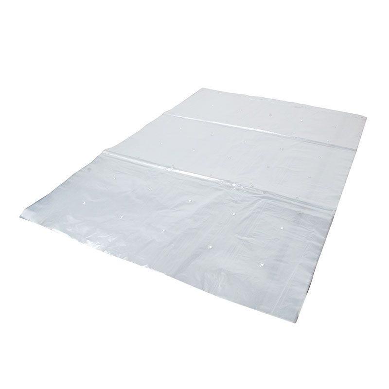 Feuille liassée macroperforée pebd transparent - 600x800 mm - 10 x 100 pièces