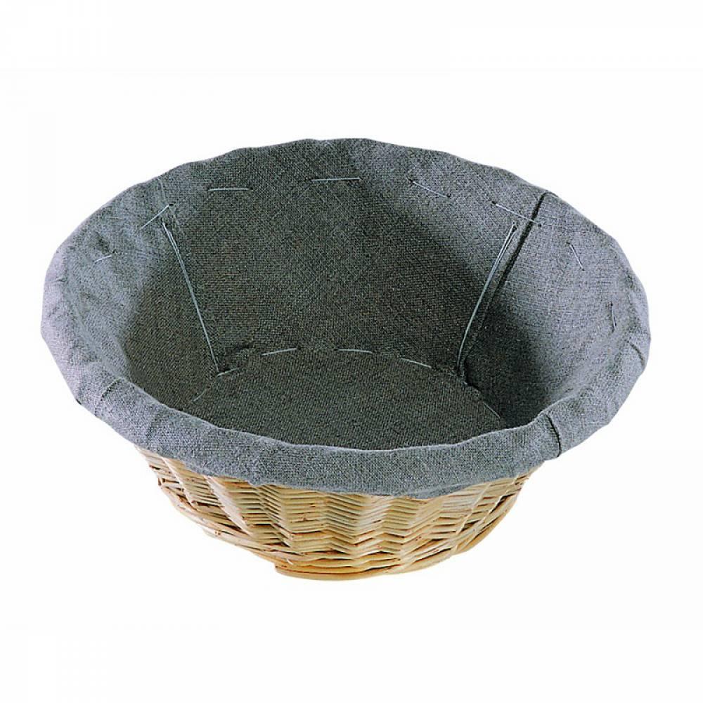 Banneton rond entoilé - 3 livres diamètre 27,5 cm et profondeur 11 cm (photo)