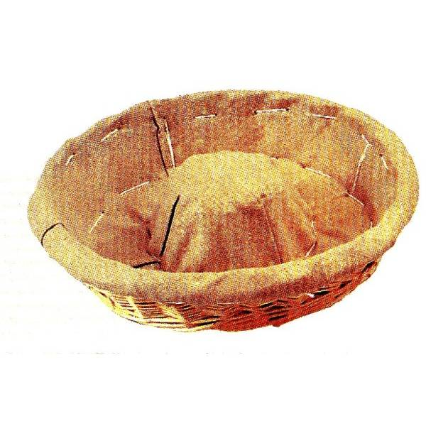 Banneton couronne entoilé 3 livres diamètre 36 cm et profondeur 8,5 cm (photo)