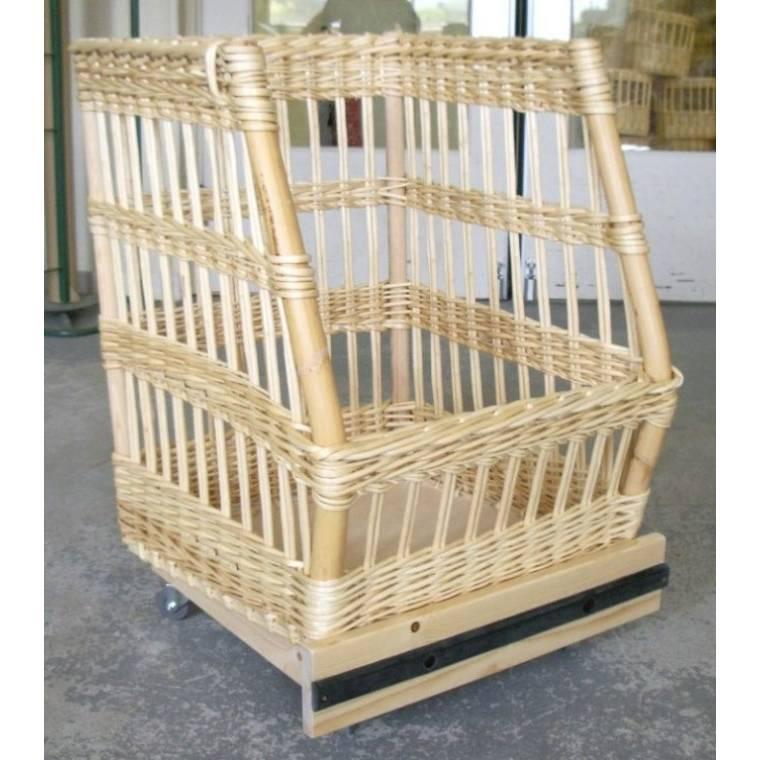 Chariot à pain debout sur roulettes 60 x 65 x 40 x 82 cm (photo)