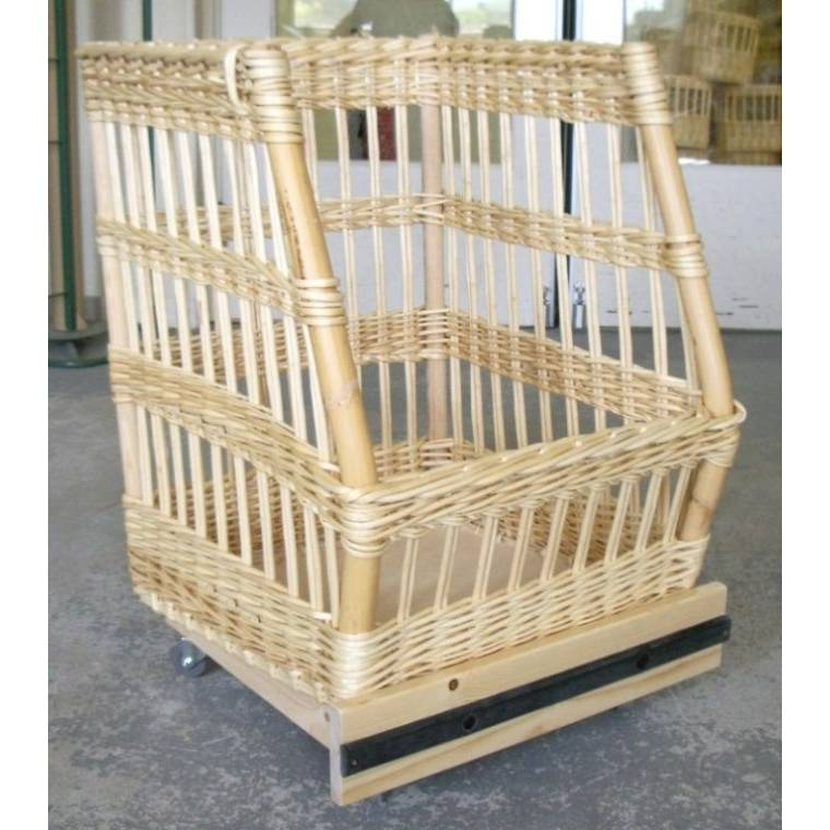 Chariot à pain debout sur roulettes 68 x 65 x 40 x 82 cm (photo)