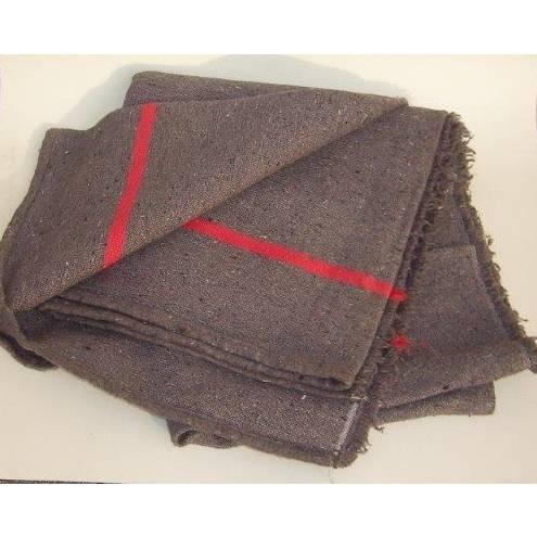 Couverture 150 x 200 cm nappée 300 grammes - ballot de 25 couvertures - par 2 (photo)