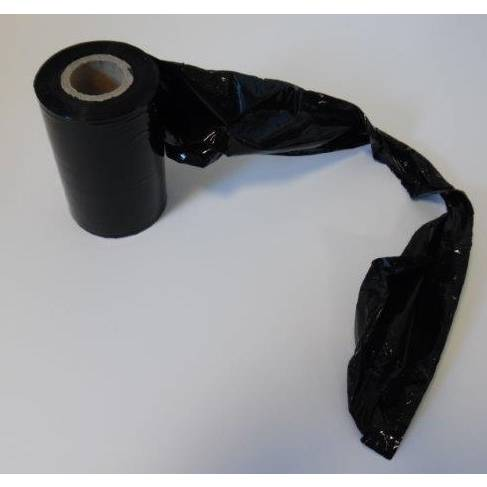 Rouleau film étirable manuel noir 125 mm x 150 m avec poignée - 20 µ - par 12 (photo)