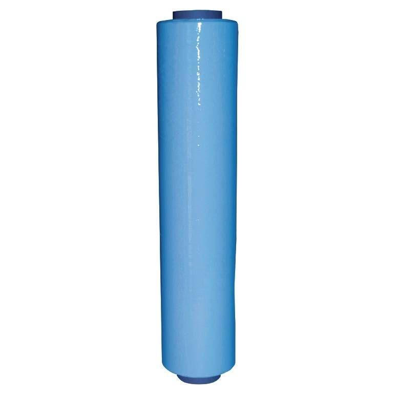Rouleau film étirable manuel bleu opaque 450 mm x 270 m épaisseur 23 µ - par 6 (photo)