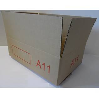 Caisse double cannelure brune - dim. Ext. 600 x 400 x 200 mm - par 10 (photo)