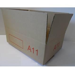 Caisse double cannelure brune - dim. Ext. 600 x 400 x 200 mm - par 25 (photo)