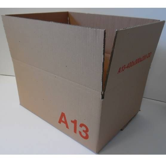 Caisse double cannelure brune - dim. Ext. 400 x 300 x 200 mm - par 100 (photo)