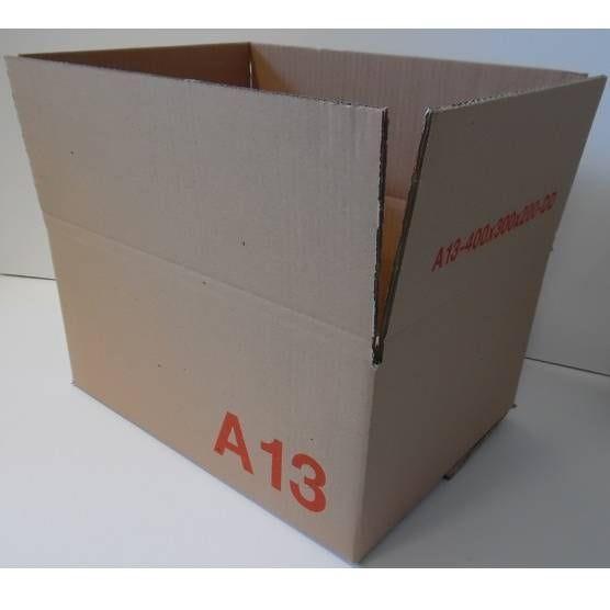 Caisse double cannelure brune - dim. Ext. 400 x 300 x 200 mm - par 25 (photo)