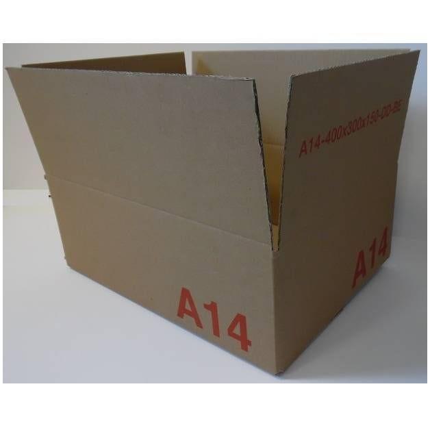 Caisse double cannelure brune - dim. Ext. 400 x 300 x 150 mm - par 25 (photo)