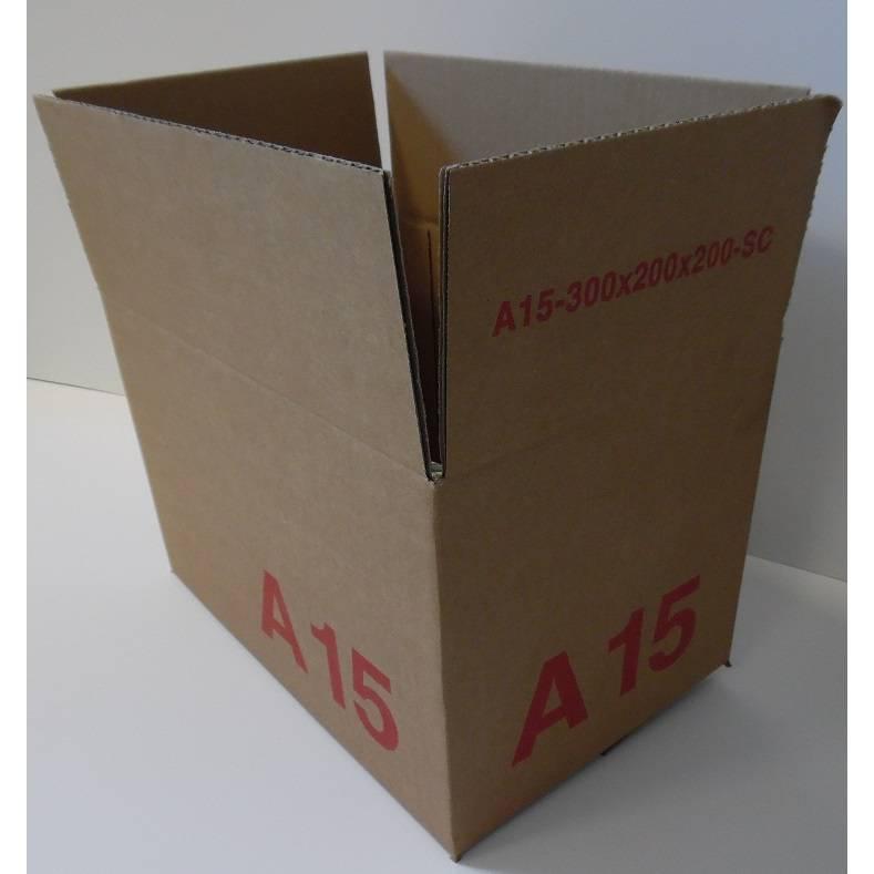 Caisse simple cannelure brune - dim. Ext. 300 x 200 x 200 mm - par 25