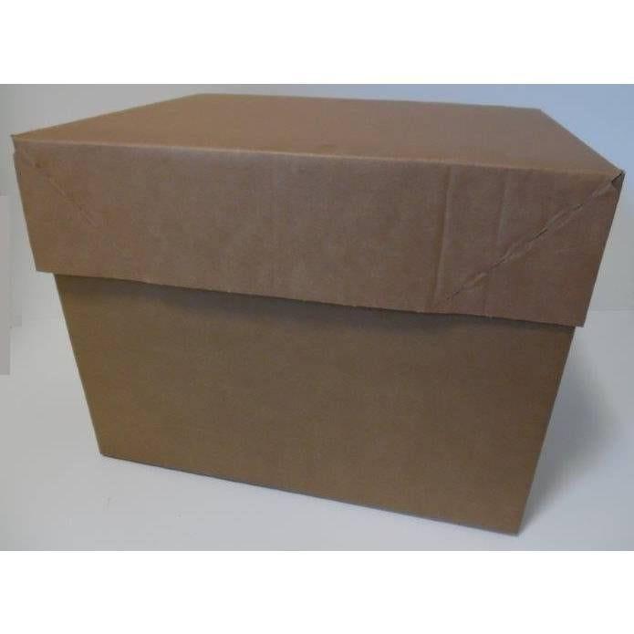 ½ caisse fond auto double can. 40x30x30 cm+couv. Simple can. 40x30x10 cm -par 25 (photo)