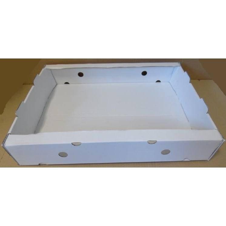 Barquette plateau blanc montage manuel - dim. Int. 560 x 420 x 100 mm - par 25 (photo)