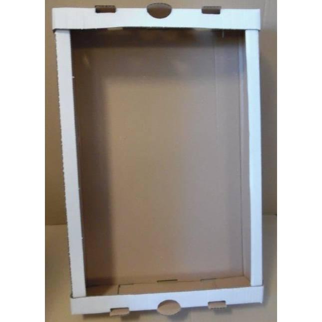 Barquette plateau blanc montage manuel - dim. Int. 601 x 401 x 98 mm - par 100 (photo)