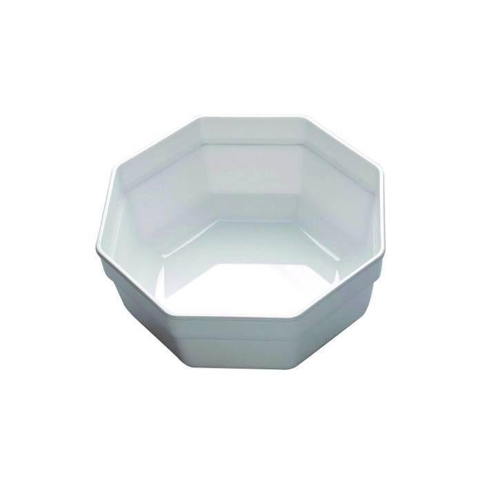 Saladier octogonal blanc 3 l (photo)