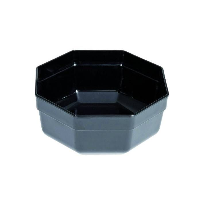 Saladier octogonal noir 3 l (photo)