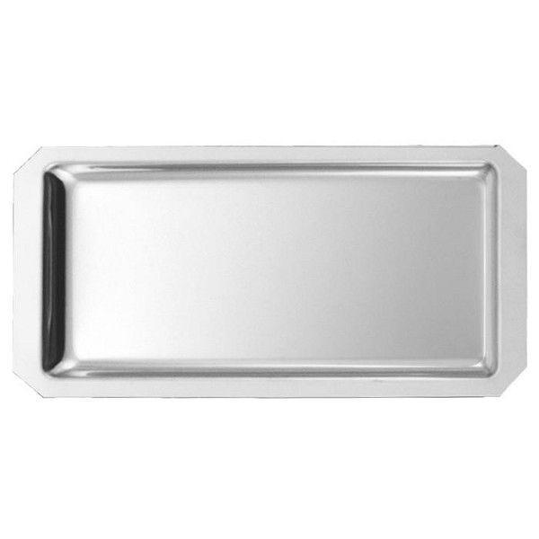Plat de vitrine à pans coupés 35 x 18 x 1,5 cm