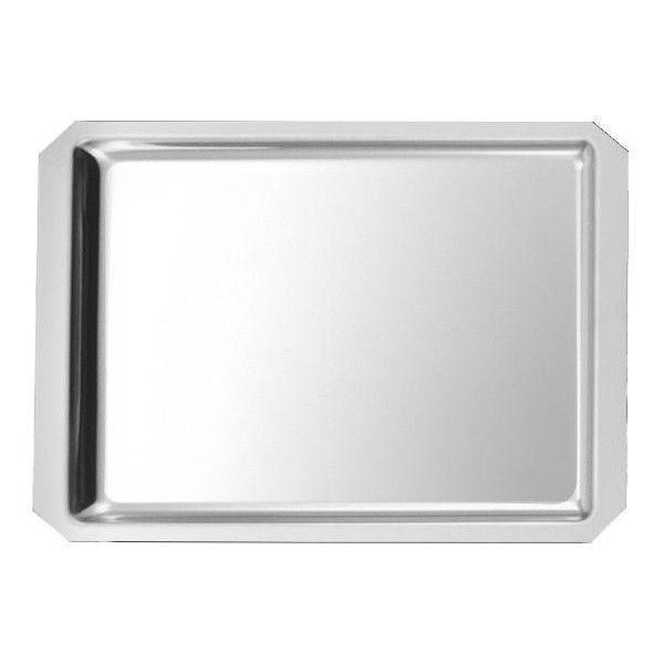 Plat de vitrine à pans coupés 35 x 27 x 1,5 cm