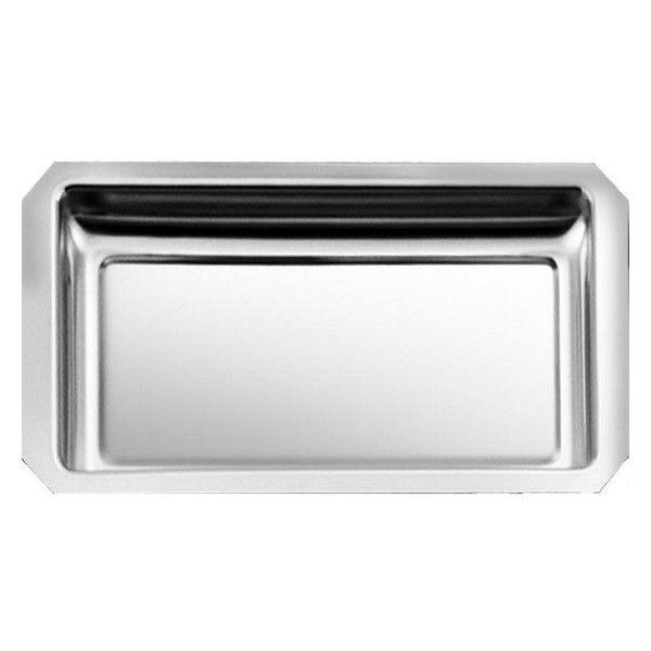 Plat de vitrine à pans coupés 35 x 18 x 3 cm