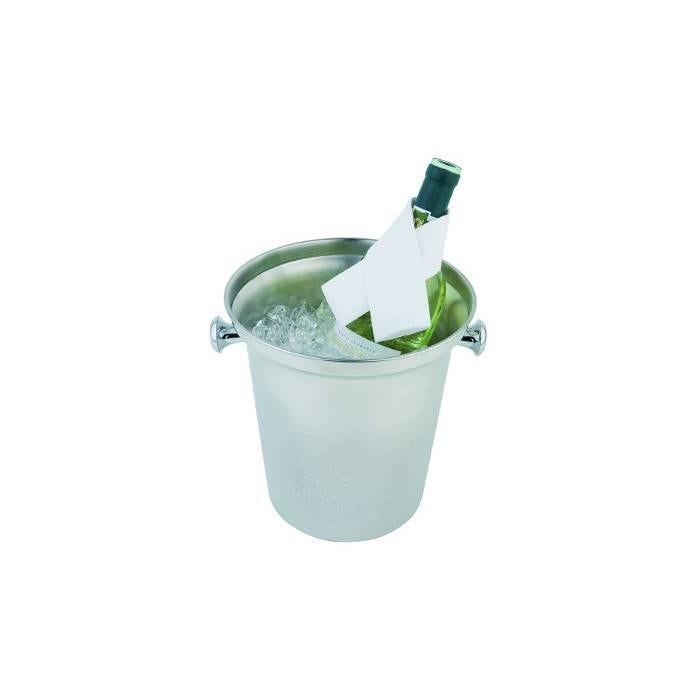 Seau à bouteille inox ø bas 16 cm, ø haut 21,5 cm, h 22 cm (photo)