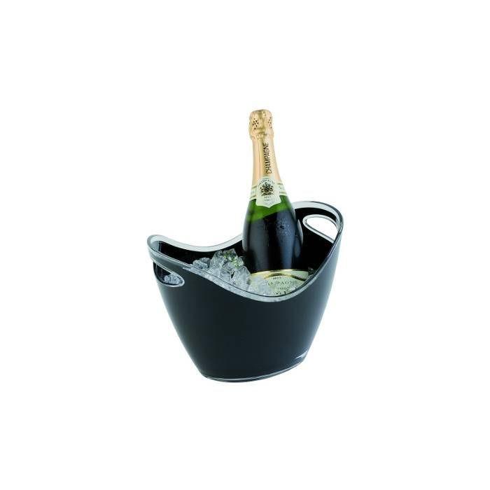 Seau à bouteille noir pour deux bouteilles (photo)