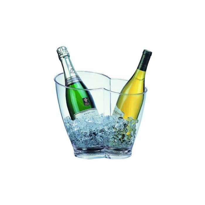 Seau transparent pour deux bouteilles