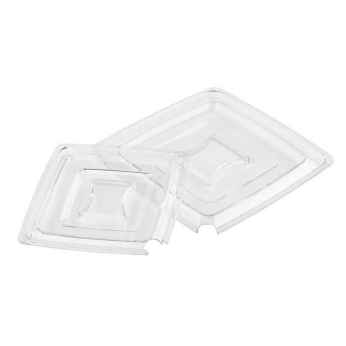 Couvercle transparent pour saladier carré 25 cm (photo)