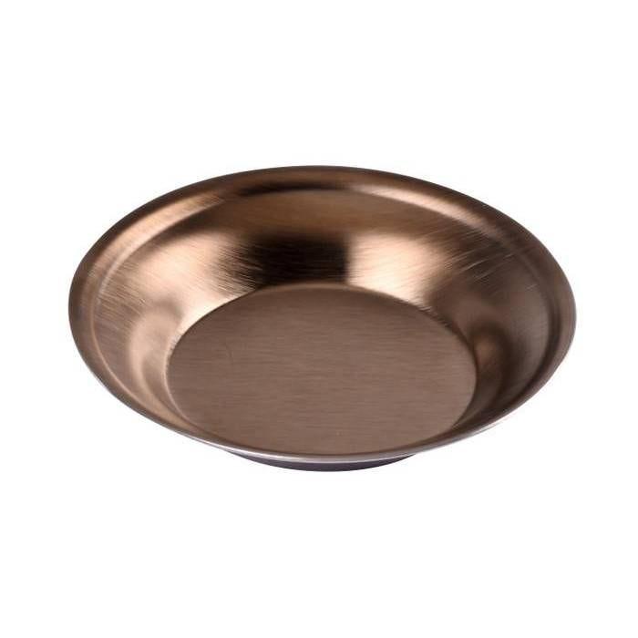 Coupelle inox bronze satiné (photo)