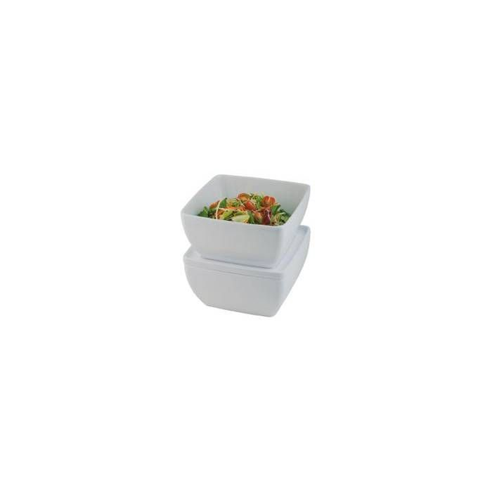 Bol/saladier carré blanc 0.4 l (photo)