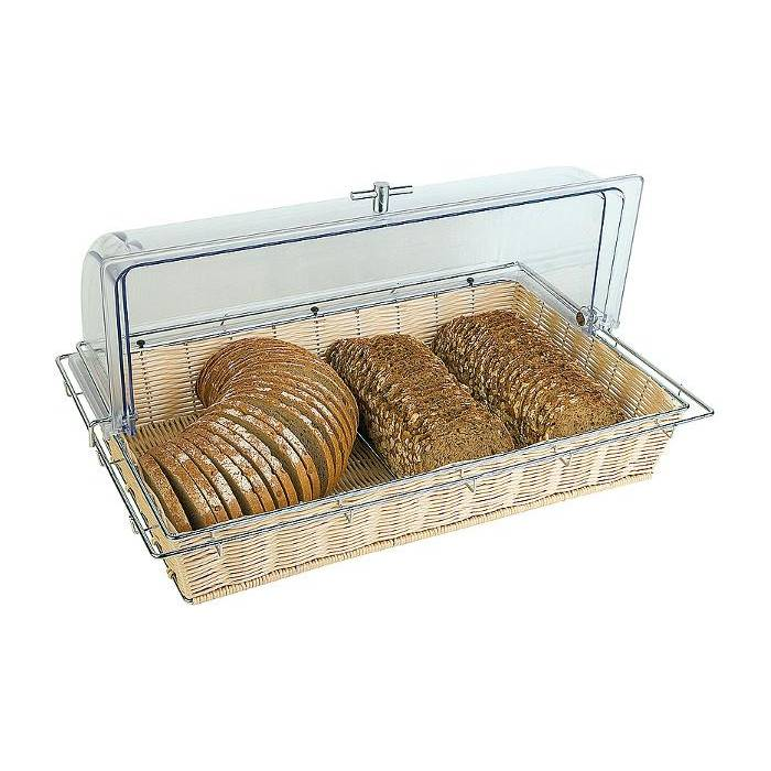 Corbeille à pain gn 1/1 avec cadre métallique coloris clair (photo)