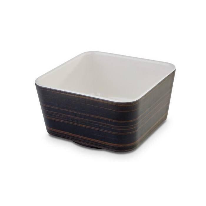 Saladier carré bicolore chêne/crème 0.6 l (photo)