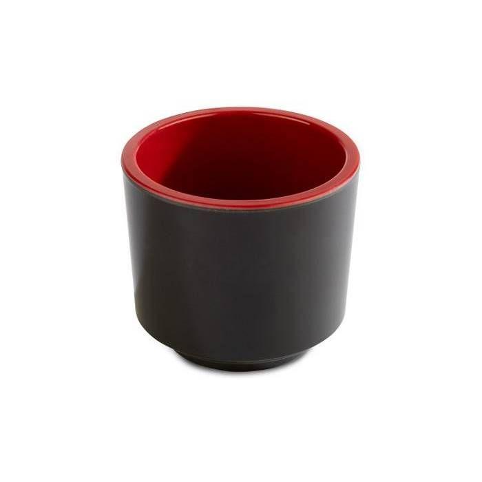 Bol/saladier mélamine noir et rouge ø7.5 x h6.5 cm (photo)