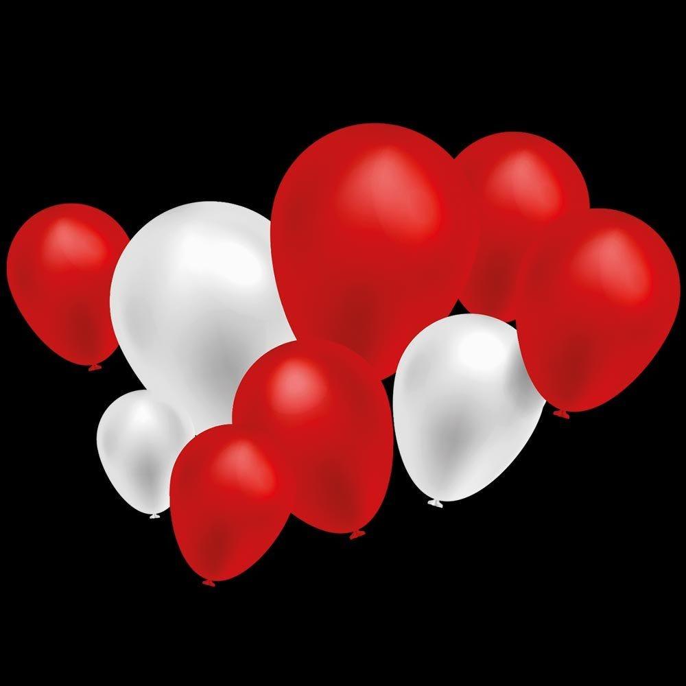 Vitrophanie frise ballons rouges et blancs - 47,7 x 135 cm