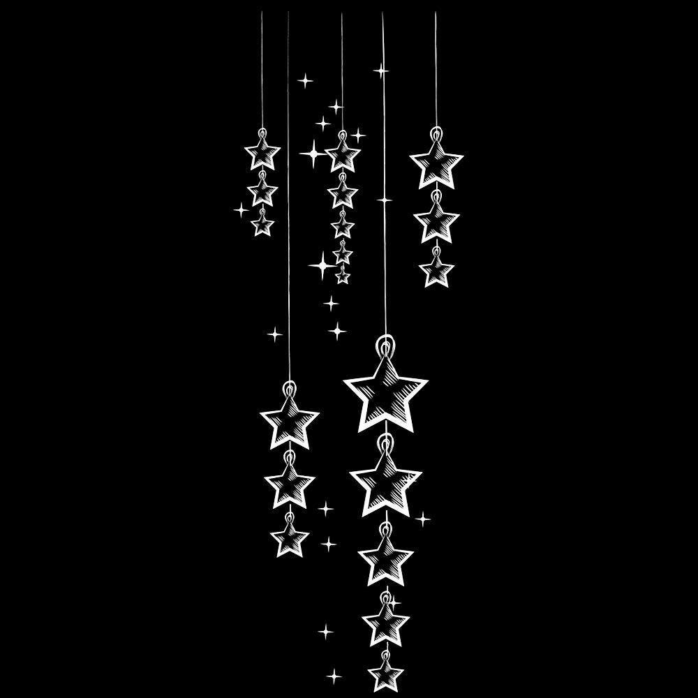 Vitrophanie suspension d'étoiles mood board - 33 x 98 cm