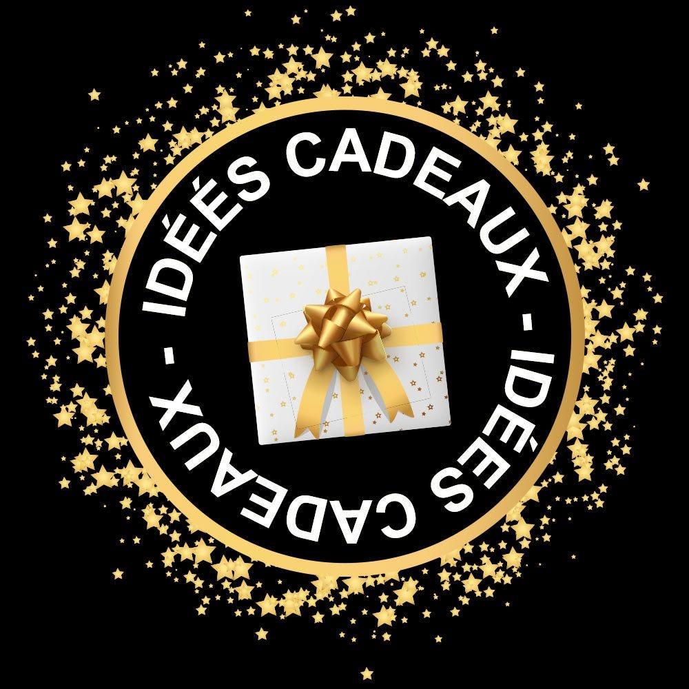 Vitrophanie petite couronne Idées cadeaux dorée - ø 48 cm