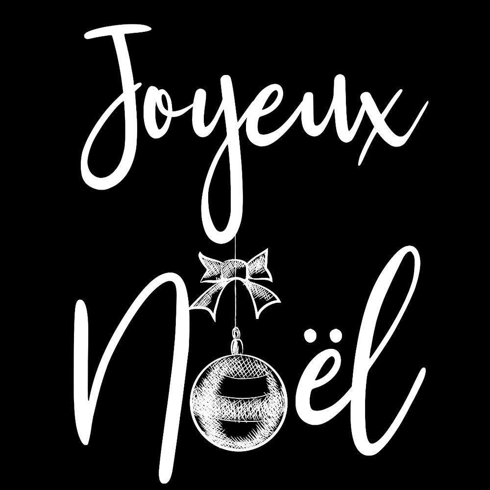 Vitrophanie Joyeux Noël boule mood board - 48 x 62 cm
