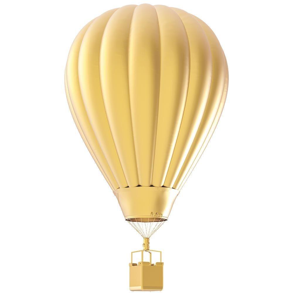 Vitrophanie petite montgolfière dorée - 27,5 x 48 cm