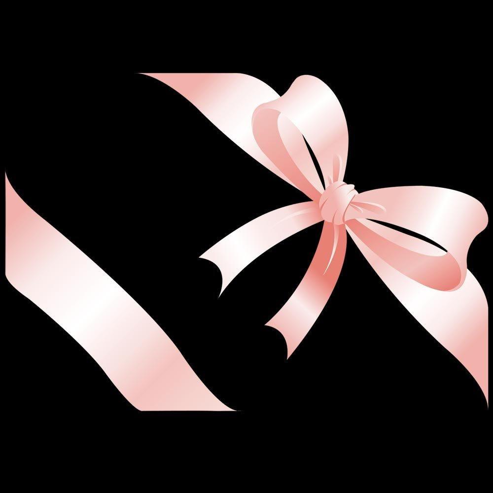 Vitrophanie nœud cadeau rose angle droit - 70 x 100 cm
