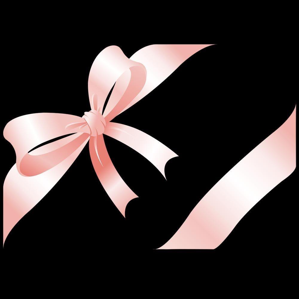 Vitrophanie nœud cadeau rose angle gauche - 70 x 100 cm