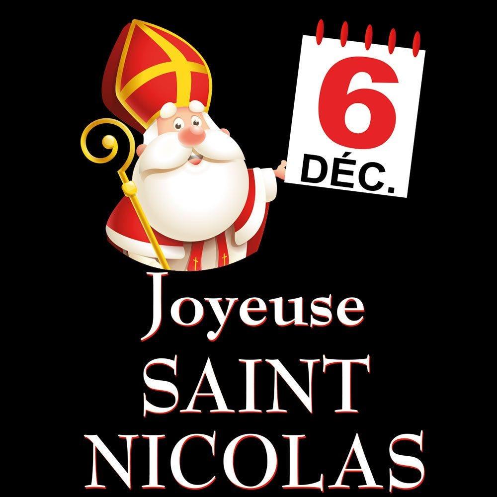 Vitrophanie petit calendrier Joyeuse St Nicolas - 47,2 x 68 cm
