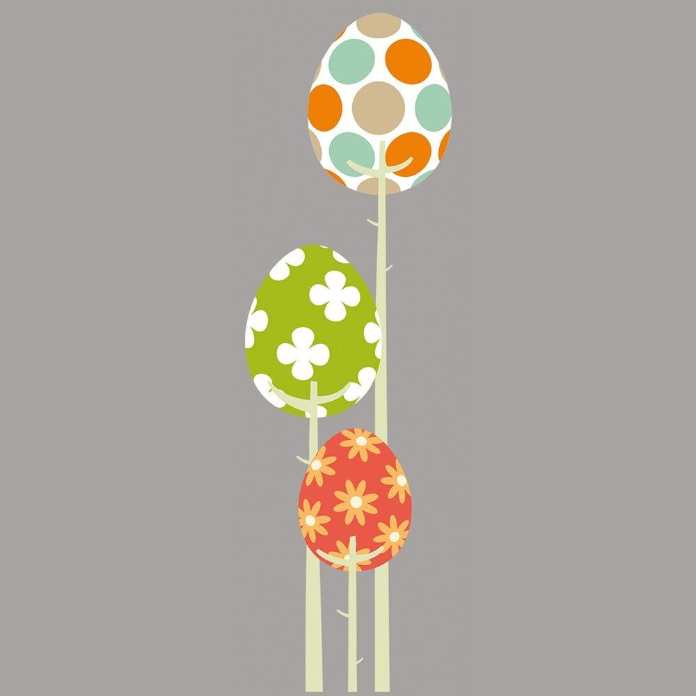Vitrophanie plante à œufs de Pâques multicolores - 29,8 x 98 cm