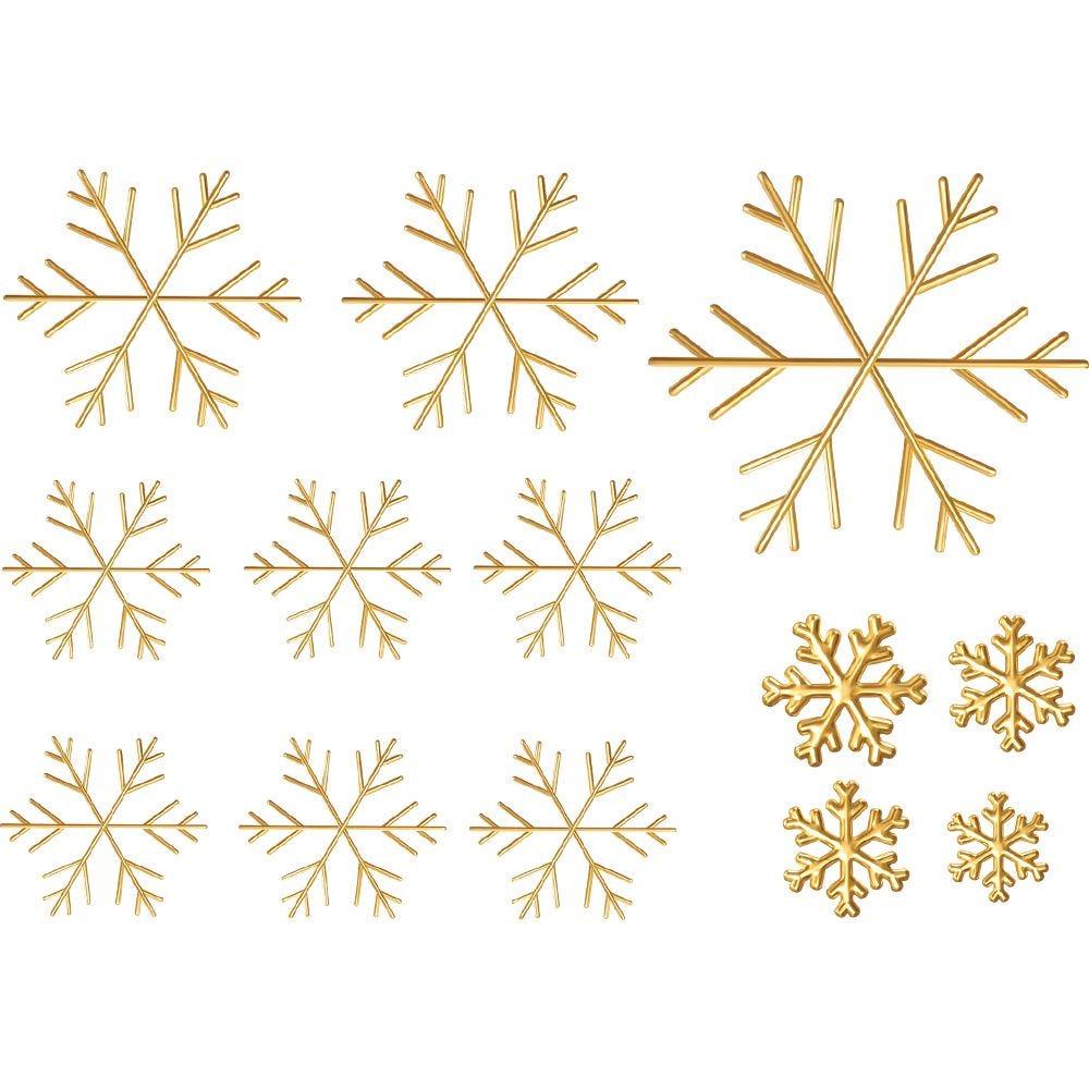 13 Cristaux dorés - 50 x 70 cm