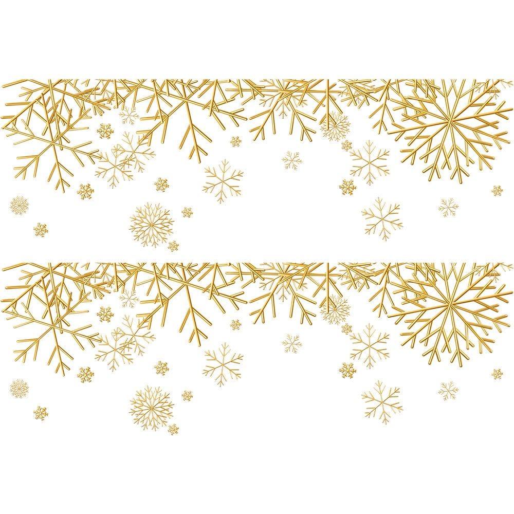 2 Frises de cristaux dorés - 70 x 100 cm