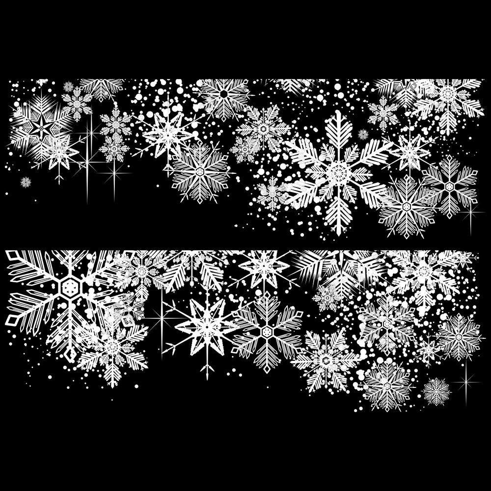 2 Frises de cristaux blancs - 70 x 100 cm